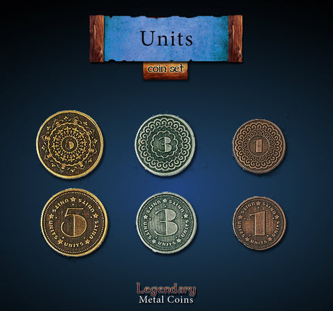 Legendary Metal Coins: Units