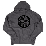gray double headed eagle whorl pullover hoodie sweatshirt