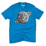Light blue t-shirt with yin yang orca whorl