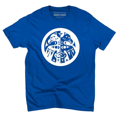 blue double headed eagle whorl t-shirt