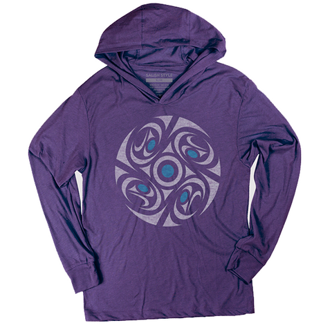 purple quadrants t-shirt hoodie