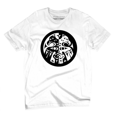 white double headed eagle whorl t-shirt