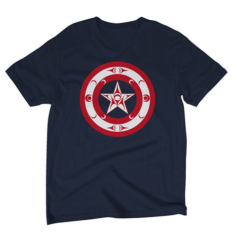 Cap'Native America Shield t-shirt flat view