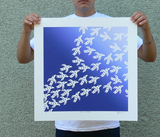 "Birds of Change with Limited Edition Serigraph | 22"" h x 22"" w 