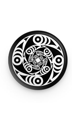 galaxy salish whorl button pin