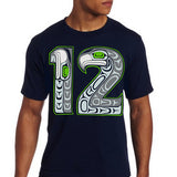 View of man in 12 unisex style tee