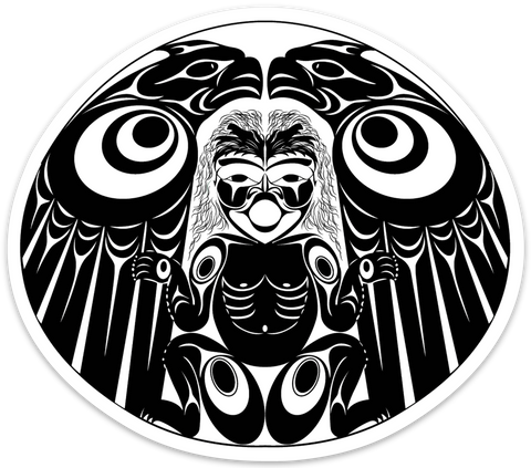 eagles and human whorl sticker