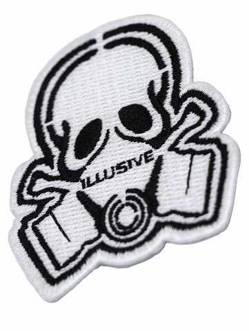 "Rep the skull on anything with this heat seal backing patch. If you have an iron you have what it takes to make that 3"" patch stick."