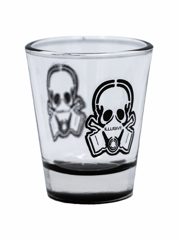 I would say drink in moderation but lets be honest your are buying a shot glass with a skull in a gask mask on it. Cheers your homies with this 1.75 oz. Illusive Shot Glass