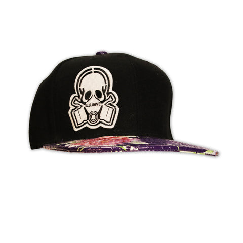 BLACK AND PURPLE GATOR SNAPBACK HAT
