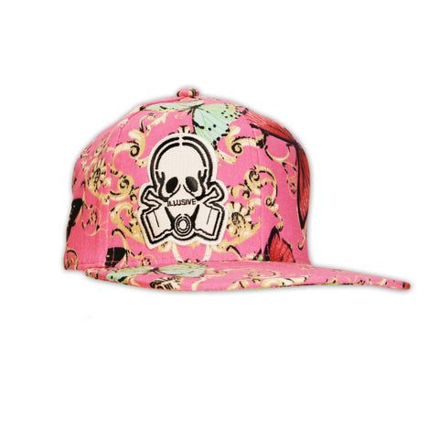PINK BUTTERFLY SNAPBACK HAT