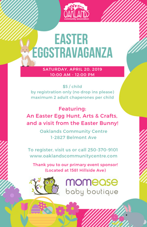 Momease Baby Boutique X Oaklands Community Centre Easter EGGstravaganza!
