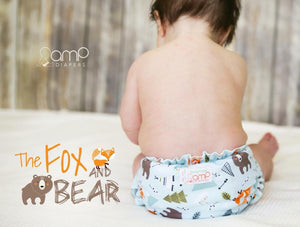 GIVEAWAY: AMP Diapers The Fox & the Bear One Size Duo Cloth Diaper Cover!
