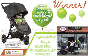 WINNER! Baby Jogger 10th Anniversary $2000 Gift Card Contest!