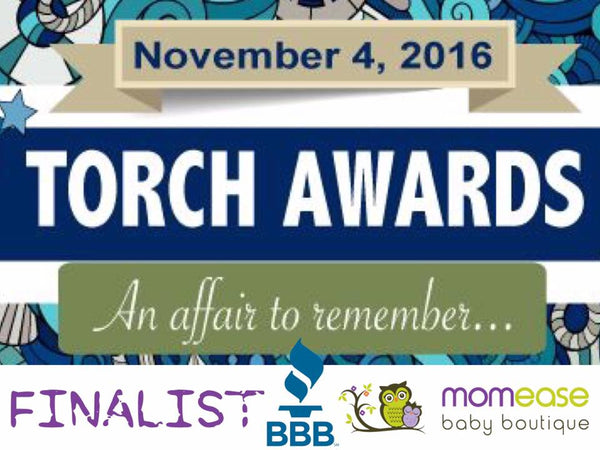 Momease Baby Boutique is a FINALIST for Better Business Bureau Torch Award!