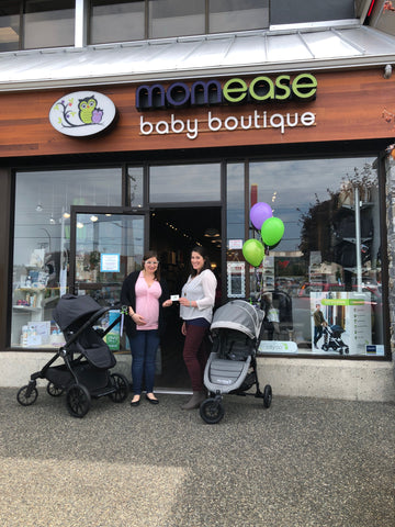 Baby Jogger 10th Anniversary Contest Winner Tanya with store manager Vanessa!