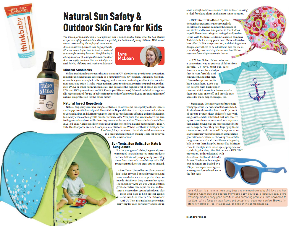 Natural Sun Safety & Outdoor Skin Care for Kids!