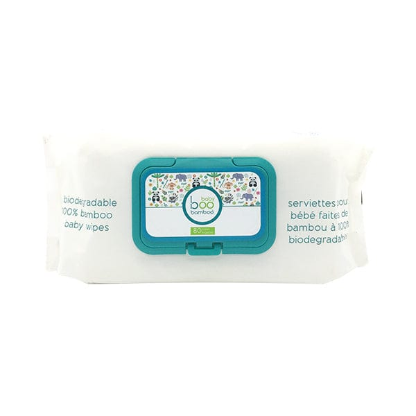 Boo Bamboo Biodegradable 100% Bamboo Baby Wipes - 80 Wipes