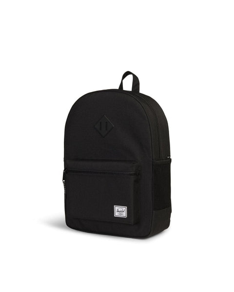 Herschel Heritage XL Youth Backpack - Black Mesh Pocket