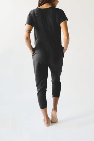 Smash + Tess Adult Sunday Romper - Midnight Black Back View