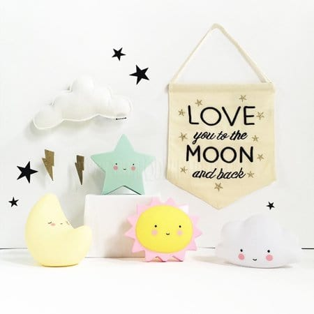 A Little Lovely Company Mini Light - Moon