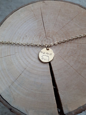 Reign & Cash Circle Charm Necklace - Mama Bear Gold