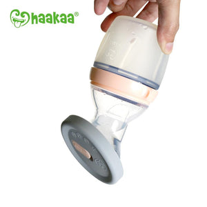 Haakaa Silicone Breast Pump Cap - Grey Spill Proof