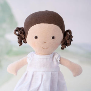 Hazel Village Louise Doll - White Linen Dress Lifestyle