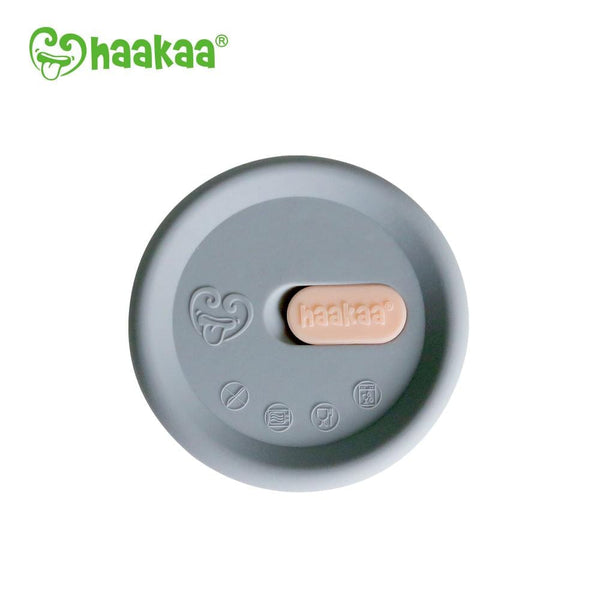Haakaa Silicone Breast Pump Cap - Grey