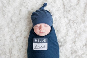 Lulujo Hello World Newborn Set - Navy Lifestyle