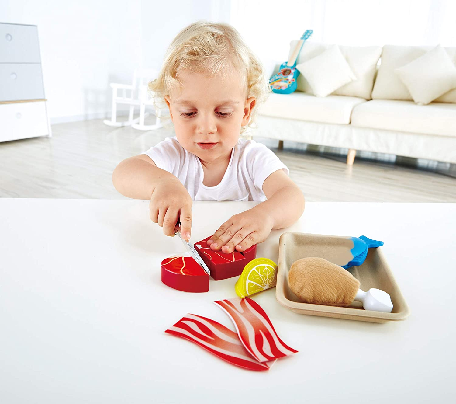 Hape Toys Tasty Proteins Wooden Play Flood Set