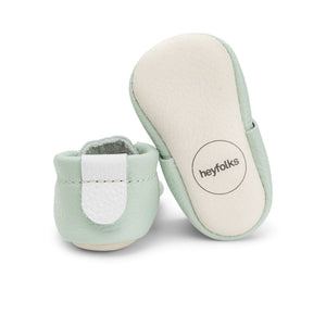 Heyfolks Newborn Soft Sole Shoe - Mint Sole