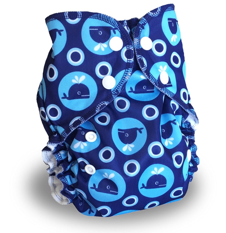 AMP Diapers One Size Duo Pocket Diaper - Whales