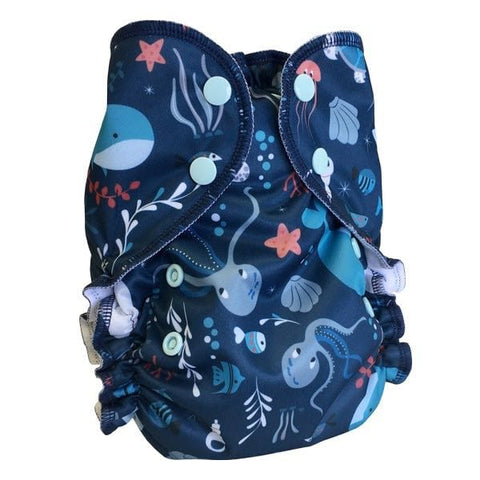 AMP Diapers One Size Duo Pocket Diaper - Deep Sea