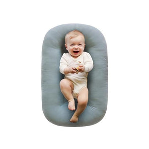 Snuggle Me Organic Infant Lounger - Slate Lifestyle 1