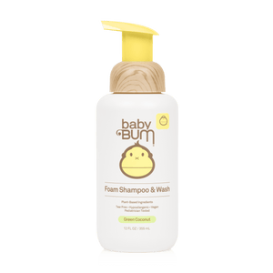 Sun Bum Baby Bum Foaming Shampoo & Wash - Green Coconut