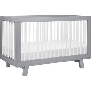 Babyletto Hudson 3-in-1 Convertible Crib - Grey and White