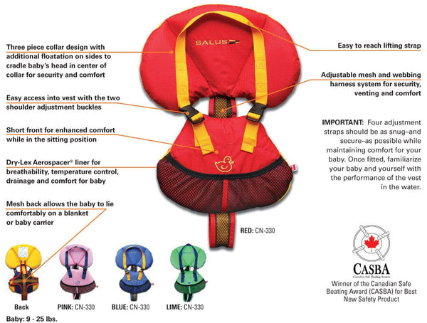 Salus Bijoux Baby Flotation Vest - Specifications and Features
