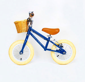 Spoke & Pedal Retro Balance Bike - Blue Side View