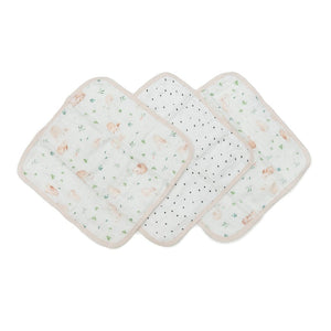 Loulou Lollipop Washcloth Set - Bunny Meadow