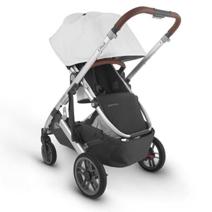UPPAbaby CRUZ V2 Stroller - Bryce (White Marl/Silver/Chestnut Leather) Reversible Seat