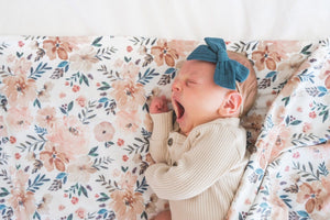 Copper Pearl Knit Swaddle Blanket - Autumn Lifestyle 1