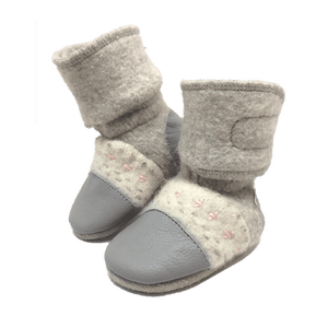 Nooks Design Felted Wool Booties - Narwhal
