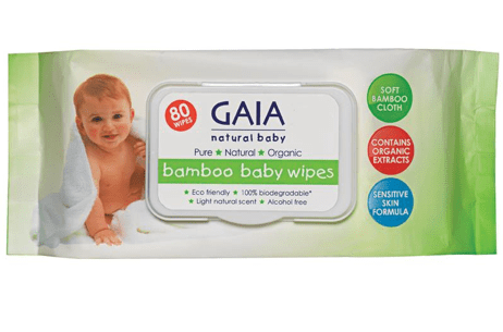 GAIA Natural Baby Bamboo Baby Wipes