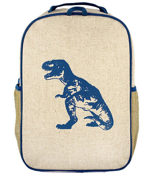 SoYoung Grade School Backpack Raw Linen - Blue Dino