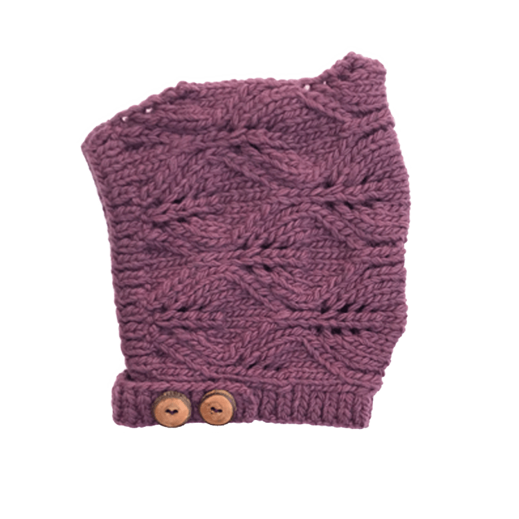 Nooks Design Merino Wool Bonnet - Plum