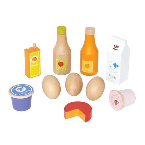 Hape Toys Healthy Basics Wooden Play Food Set
