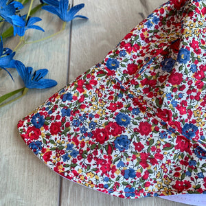 Rain People Full Brim Cotton Bonnet - Summer Garden Liberty of London Detail