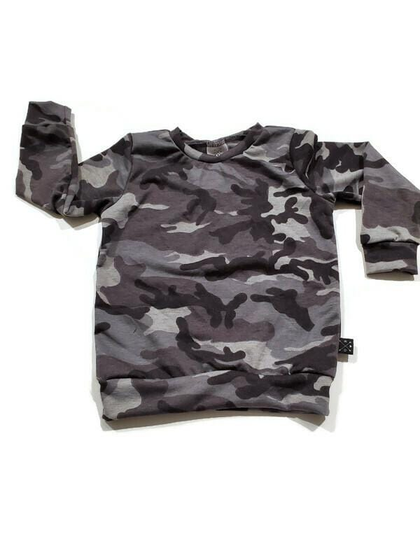 Urban Baby Apparel Get With The Crew Pullover - Camo