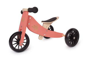 Kinderfeets Tiny Tot 2-in-1 Tricycle/Balance Bike - Coral